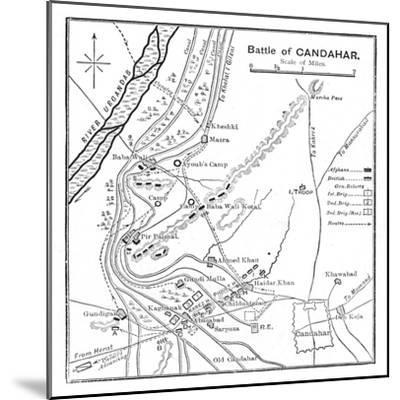 'Battle of Candahar: Plan', 1902-Unknown-Mounted Giclee Print