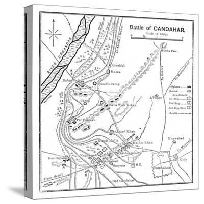 'Battle of Candahar: Plan', 1902-Unknown-Stretched Canvas Print