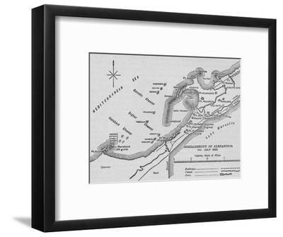 'The Bombardment of Alexandria: Sketch Map', 1902-Unknown-Framed Giclee Print