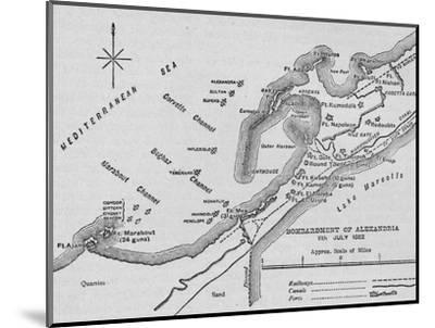 'The Bombardment of Alexandria: Sketch Map', 1902-Unknown-Mounted Giclee Print