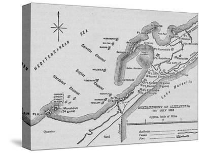 'The Bombardment of Alexandria: Sketch Map', 1902-Unknown-Stretched Canvas Print
