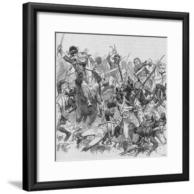 'The Dragoons Rode Onwards, Smiting With Their Long, Glittering Swords', 1902-Unknown-Framed Giclee Print