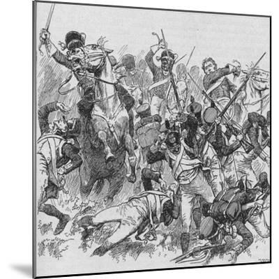 'The Dragoons Rode Onwards, Smiting With Their Long, Glittering Swords', 1902-Unknown-Mounted Giclee Print