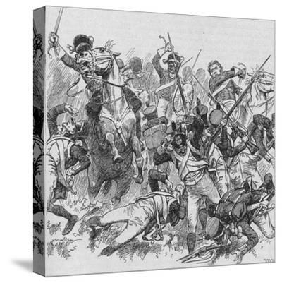 'The Dragoons Rode Onwards, Smiting With Their Long, Glittering Swords', 1902-Unknown-Stretched Canvas Print