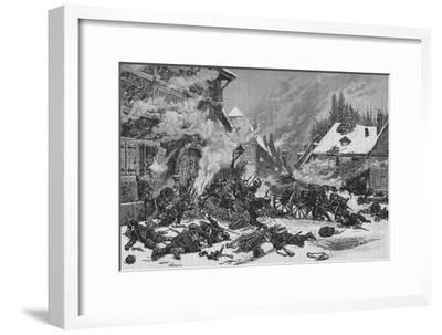 'An Incident In The Battle of Villersexel', 1902-Unknown-Framed Giclee Print