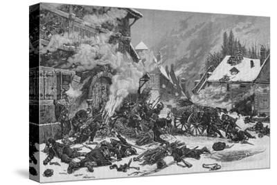 'An Incident In The Battle of Villersexel', 1902-Unknown-Stretched Canvas Print