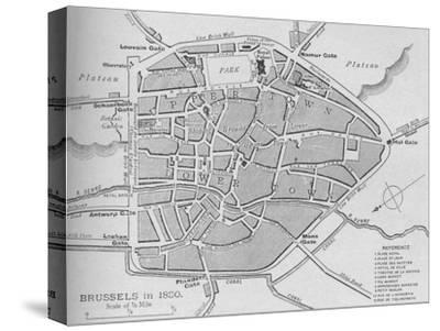 'Brussels in 1830 - Plan', 1902-Unknown-Stretched Canvas Print