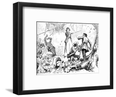 'Among The Insurgents Was A Young Lady', 1902-Unknown-Framed Giclee Print