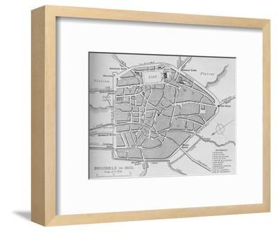 'Brussels in 1830 - Plan', 1902-Unknown-Framed Giclee Print