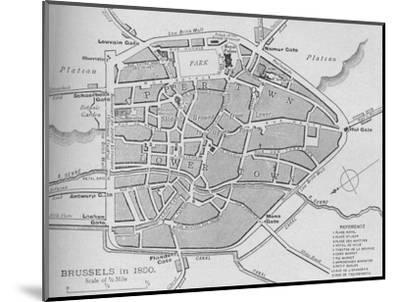 'Brussels in 1830 - Plan', 1902-Unknown-Mounted Giclee Print