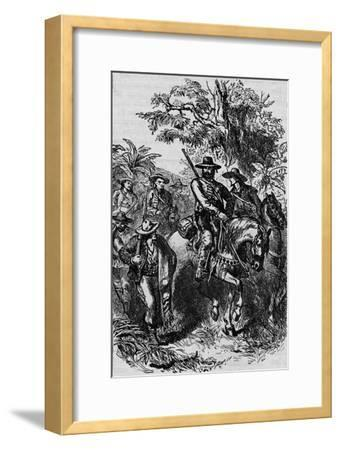 'Mexican Filibusters', 1870, (1902)-Unknown-Framed Giclee Print