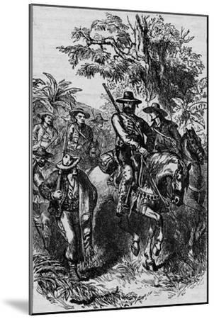 'Mexican Filibusters', 1870, (1902)-Unknown-Mounted Giclee Print