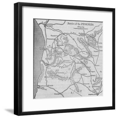 'Battles of the Pyrenees: Sketch Map', 1902-Unknown-Framed Giclee Print