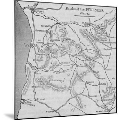 'Battles of the Pyrenees: Sketch Map', 1902-Unknown-Mounted Giclee Print