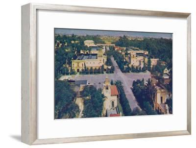 'Cafe of the World and Casa del Rey Moro', c1935-Unknown-Framed Giclee Print