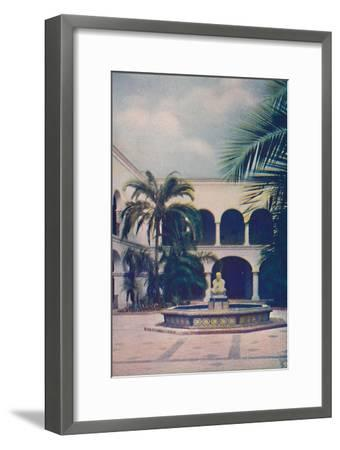 'Patio of the House of Hospitality', c1935-Unknown-Framed Giclee Print