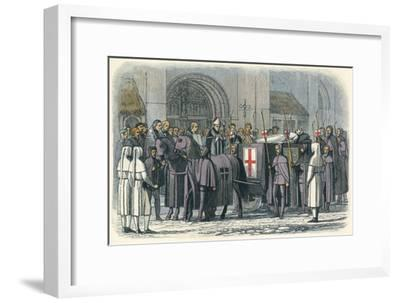 'The body of Richard brought to St. Paul's', 1400 (1864)-James William Edmund Doyle-Framed Giclee Print