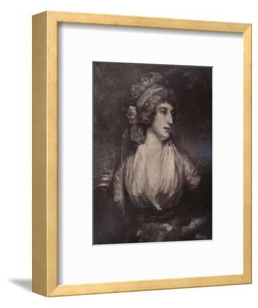 Anna Seward, English writer and poet, c late 18th or early 19th century (1894)-Unknown-Framed Giclee Print