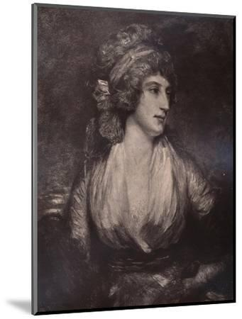 Anna Seward, English writer and poet, c late 18th or early 19th century (1894)-Unknown-Mounted Giclee Print