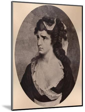 Sarah Siddons, Welsh actress, c late 18th or 19th century (1894)-Unknown-Mounted Giclee Print