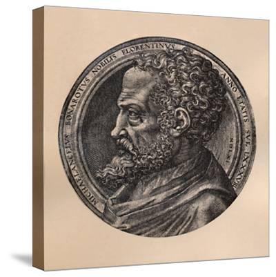 Michelangelo Buonarroti, Italian artist and architect, c16th century (1894)-Unknown-Stretched Canvas Print