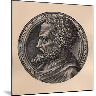 Michelangelo Buonarroti, Italian artist and architect, c16th century (1894)-Unknown-Mounted Giclee Print