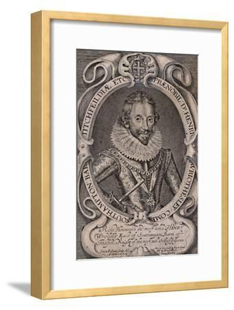 Henry Wriothesley, Earl of Southampton, patron of William Shakespeare,  c1617 (1894) Giclee Print by Simon de Passe | Art com