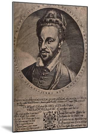 Henry III, King of France, c16th century (1894)-Unknown-Mounted Giclee Print