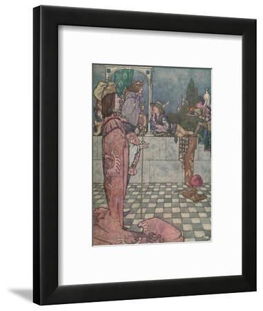 'He Did Not Come to Woo Her, He Said', c1930-W Heath Robinson-Framed Giclee Print