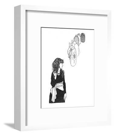 'They Carried the Mirror From Place To Place', c1930-W Heath Robinson-Framed Giclee Print