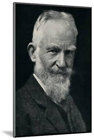 'George Bernard Shaw', c1925-Unknown-Mounted Photographic Print