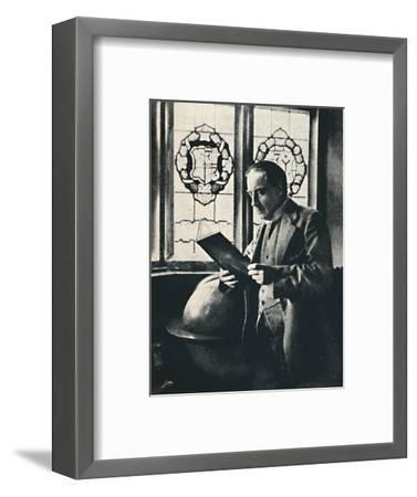 'Stanley Baldwin in the Gallery at Chequers', c1925-Unknown-Framed Photographic Print