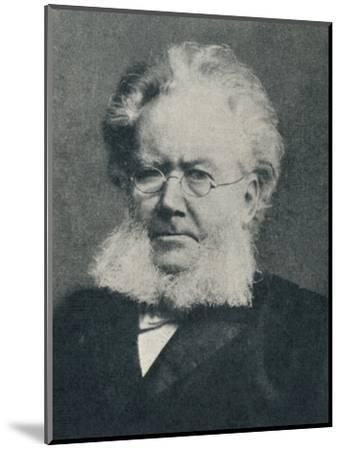 'Henrik Ibsen - In the Heyday of His Success', c1897, (c1925)-Unknown-Mounted Photographic Print