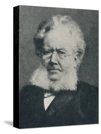 'Henrik Ibsen - In the Heyday of His Success', c1897, (c1925)-Unknown-Stretched Canvas Print