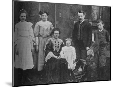 'David Lloyd George - The Great Statesman Surrounded By His Family', 1905, (c1925)-Unknown-Mounted Photographic Print