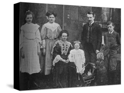 'David Lloyd George - The Great Statesman Surrounded By His Family', 1905, (c1925)-Unknown-Stretched Canvas Print