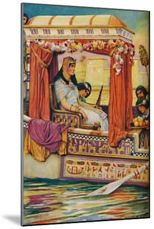 'Cleopatra - The Serpent of Old Nile in the Royal Galley', c1925-Arthur Percy Dixon-Mounted Giclee Print