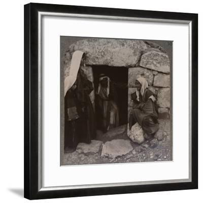 'The Tomb of Lazarus, Bethany', c1900-Unknown-Framed Photographic Print