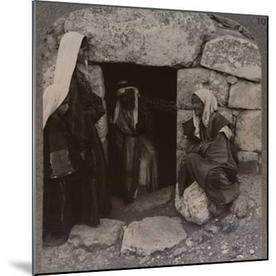 'The Tomb of Lazarus, Bethany', c1900-Unknown-Mounted Photographic Print