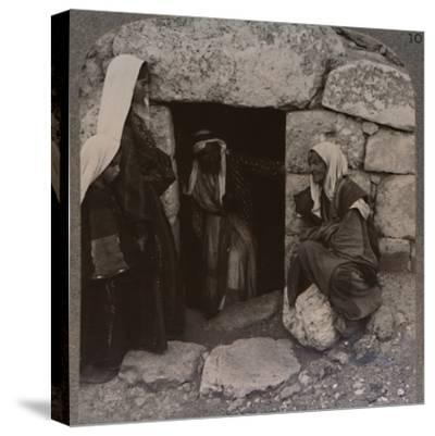 'The Tomb of Lazarus, Bethany', c1900-Unknown-Stretched Canvas Print