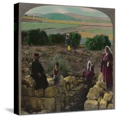 'In the Shepherd's Field, Bethlehem', c1900-Unknown-Stretched Canvas Print