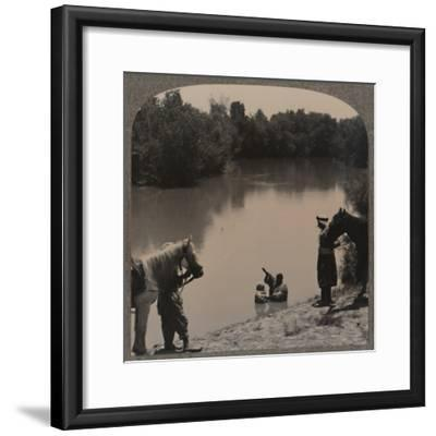 'Baptising in the Jordan', c1900-Unknown-Framed Photographic Print