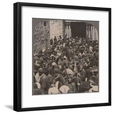 'Palm Procession leaving the Church of the Holy Sepulchure', c1900-Unknown-Framed Photographic Print