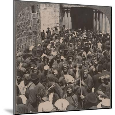 'Palm Procession leaving the Church of the Holy Sepulchure', c1900-Unknown-Mounted Photographic Print