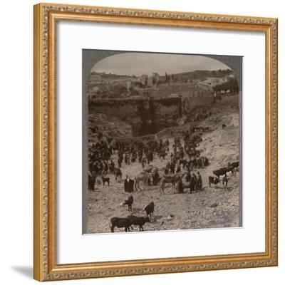 'Market day at the Pool of Gihon', c1900-Unknown-Framed Photographic Print