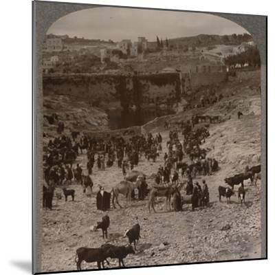 'Market day at the Pool of Gihon', c1900-Unknown-Mounted Photographic Print
