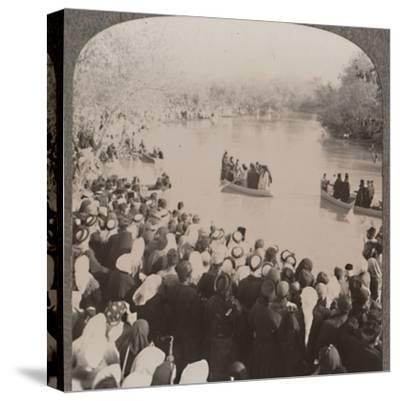 'Priests blessing the Jordan', c1900-Unknown-Stretched Canvas Print