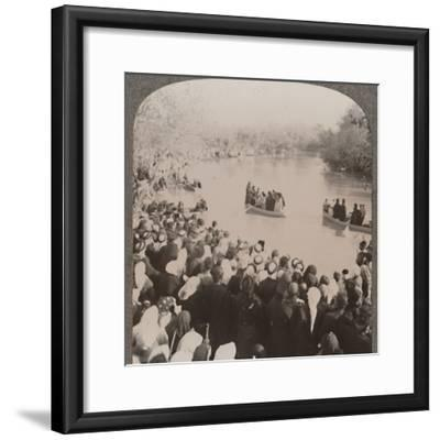 'Priests blessing the Jordan', c1900-Unknown-Framed Photographic Print