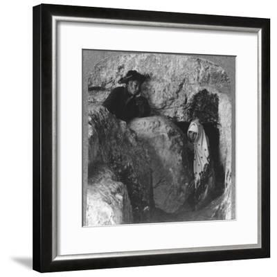 'The Tomb of Christ, showing the Stone, Rolled Away, c1900-Unknown-Framed Photographic Print