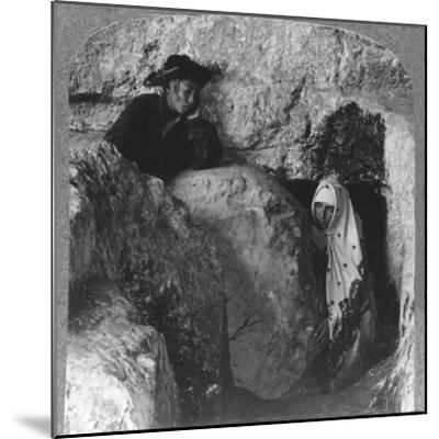 'The Tomb of Christ, showing the Stone, Rolled Away, c1900-Unknown-Mounted Photographic Print